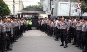 Sidang Ahok di jaga ketat polisi/Foto solopos/Nusantaranews