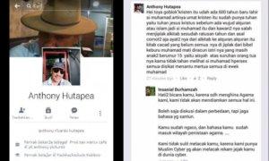 Status FB Anthony Hutapea yang menyinggung agama lain/Foto Istimewa/Nusantaranews