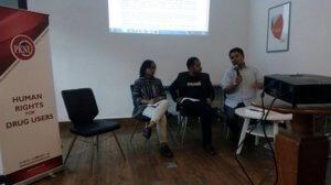 Acara diskusi bertema 'Narkotika dalam RKUHP: Solusi atau Masalah Baru?' yang diselenggarakan di Kantor LBH Masyarakat (Dok. LBH Masyarakat)