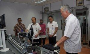 Kunjungan Mendag Enggartiasto Lukita, didampingi Dirjen PKTN Kemedag, Syahrul Mamma dan Direktur Metrologi Hari Prawoko. Foto: Dok. Humas Kemendag