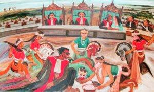 Pawang pun Kesurupan | lukisan Joko Pekik