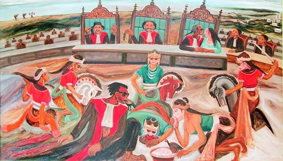 Pawang pun Kesurupan   lukisan Joko Pekik