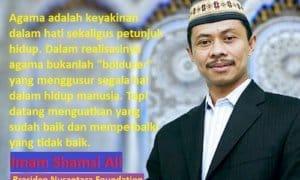 Imam Shamsi Ali (Presiden Nusantara Foundation). Foto Harian Terbit