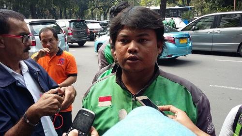 Driver Gojek, Arif Budi Kurniawan. Foto Ucok al Ayubi/ NUSANTARAnews