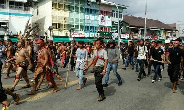 Beredar foto konflik di Pontianak viral di medsos/Foto Istimewa/Nusantaranews