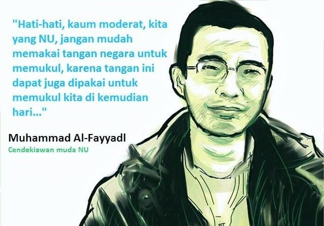 Cendekiawan muda NU Muhammad Al-Fayyadl. Ilustrasi NUSANTARAnews via Card image cap