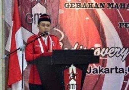 Ketua Presidium Gerakan Mahasiswa Nasional Indonesia (GMNI) Chrisman Damanik. Foto: suaragarudanews.com