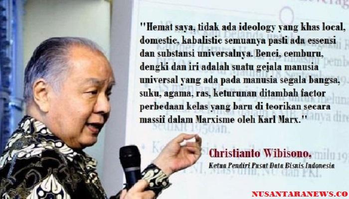 Christianto Wibisono Ketua Pendiri Pusat Data Bisnis Indonesia. Ilustrasi Foto: NUSANTARAnews