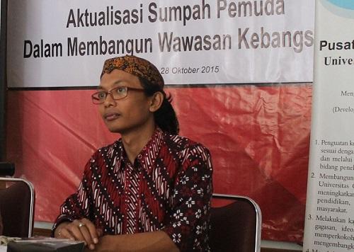 Peneliti Pusat studi Pancasila Universita Gadjah Mada, Diasma Sandi Swandaru. Foto: Dok. Pusat Studi Pancasila UGM