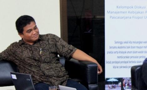 Peneliti dari Indonesia Berdikari, Gugun El Guyani. Foto: Dok. CPPS UGM