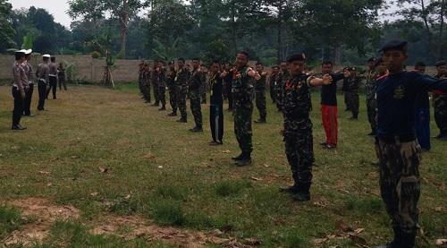 Satlantas Polres Lampung Timur mengisi pelatihan Balantas Satkorwil Banser Lampung. Foto Satkorwil Banser Lampung. Foto Syuhud Tsaqafi