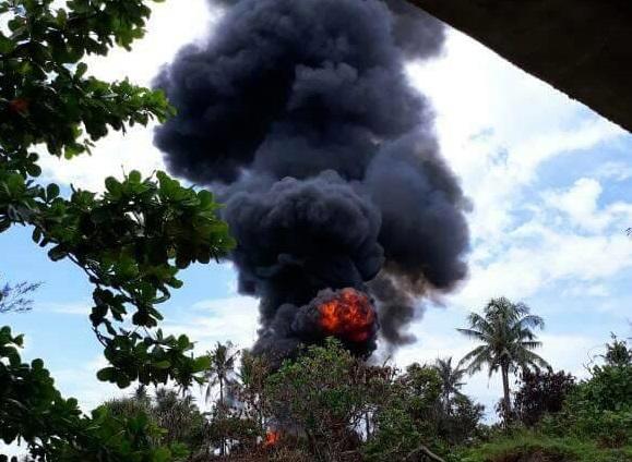 Insiden Kecelakan Latihan di Natuna/Foto Istimewa/Nusantaranews