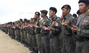 Jajaran Banser Ansor/Foto Istimewa/Nusantaranews
