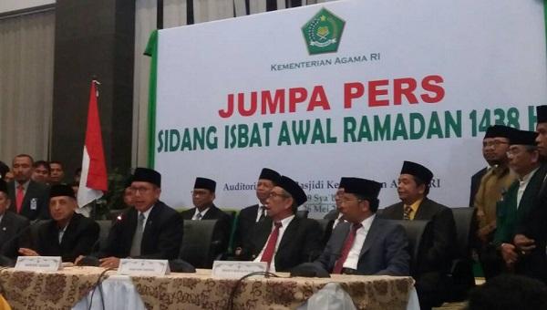 Jumpa pers sidang isbat/Foto Restu Fadilah/Nusantaranews