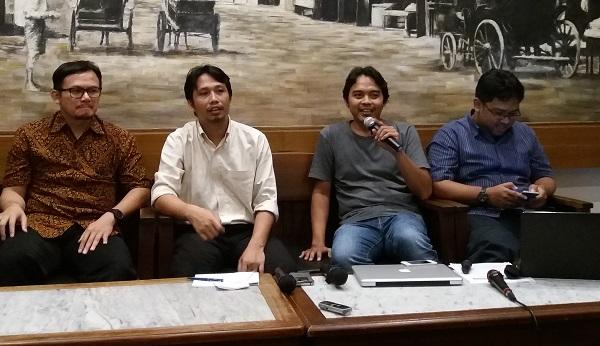 Diskusi publik di kawasan Cikini/Foto Restu Fadilah/Nusantaranews