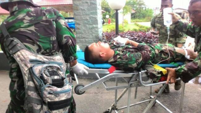 Korban Ledakan Meriam di Natuna/Foto Istimewa/Nusantaranews