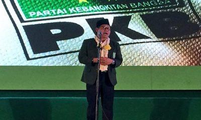 Orasi Politik Ketua Umum Partai Kebangkitan Bangsa (PKB) Muhaimin Iskandar pada pelantikan DPC, DPAC, DPR, dan Banom PKB Sidoarjo. (Foto Istimewa)
