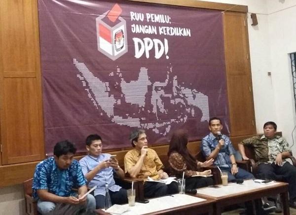 Diskusi RUU Pemilu/Foto Ucok/Nusantaranews