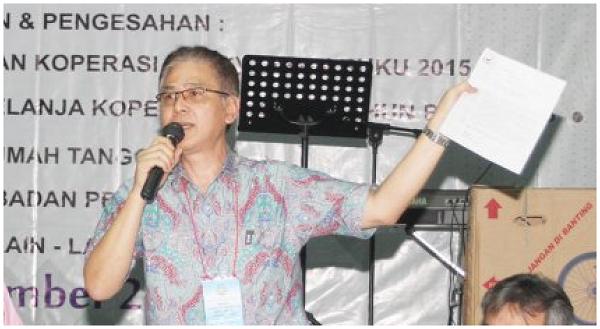 Ketua Koperasi Garuda Rimond Barkah Sukandi/Foto Nusantaranews