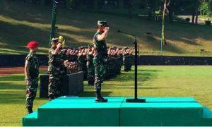 Upacara pembukaan lomba yang dipimpin langsung oleh Kasad, Jenderal Mulyono (Dok. Dispenad)