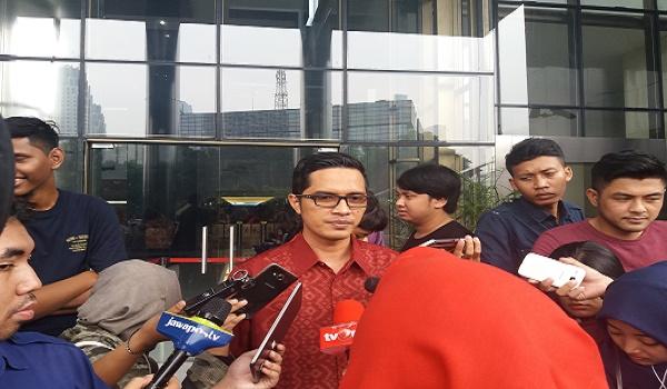 Kabiro Humas KPK Febri Diansyah. (Foto: restu Fadilah/Nusantaranews)