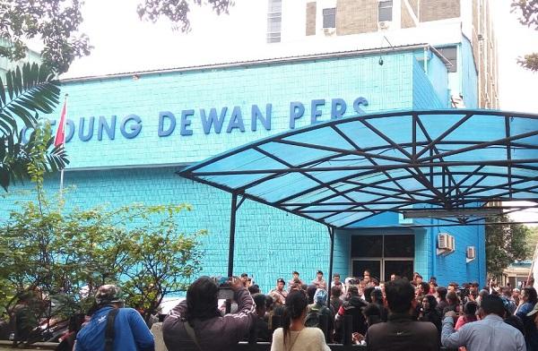 Aksi di depan gedung dewan pers/Foto ilustrasi/Istimewa/Nusantaranews