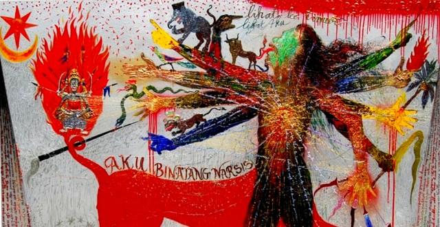 Aku Bintang Narsis - Lukisan Nasirun (Istimewa)