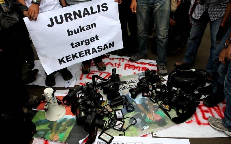 Kekerasan Wartawan/Foto Istimewa/Nusantaranews