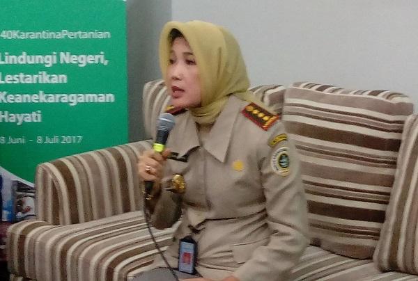 Kepala Badan Karantina Kementerian Pertanian, Banun Harpini /Foto Andika/Nusantaranews