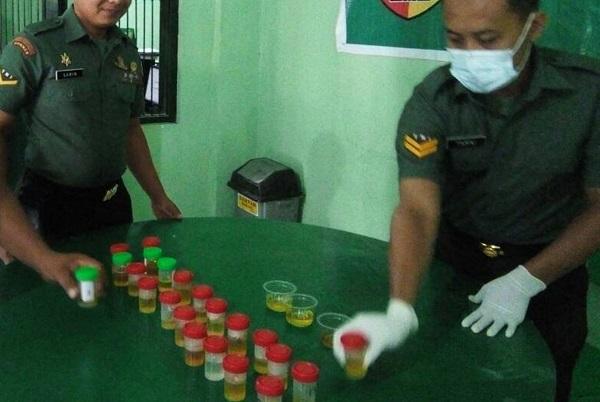 Kodim Madiun Gelar Tes Urine/Foto Dok. Pribadi/Nusantaranews