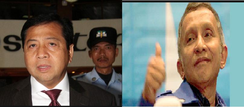 Novanto dan Amien Rais/Foto Istimewa/Nusantaranews