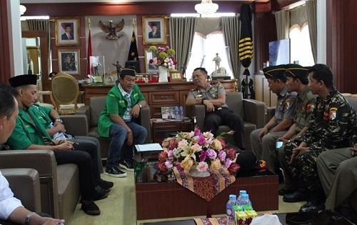 PW GP Ansor Lampung dan Kapolda Lampung Irjend Pol Sudjarno. Foto Syuhud Tsaqafi