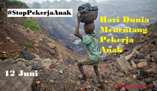 Hari Dunia Menentang Pekerja Anak. Foto: The Week | Ilustrasi: NUSANTARAnews.co