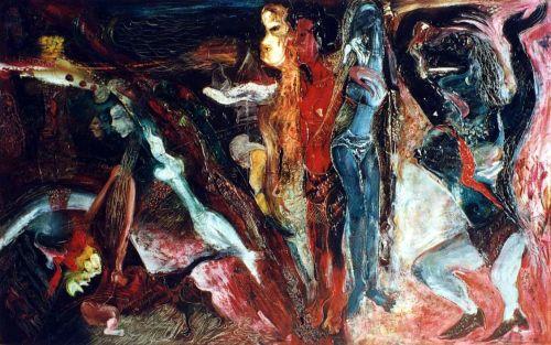Nasirun - 1996 - Ratu Segajat (145x90) Oil Paint on Canvas   Dokumentasi Edwin's Gallery (archive.ivaa-online.org)