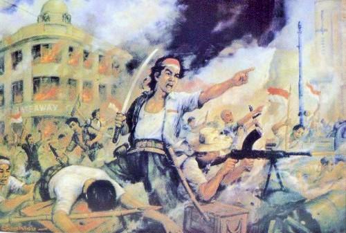 """M. Sochieb, """"Perjuangan 10 Nopember"""", Foto: Kolektor Sejarah"""