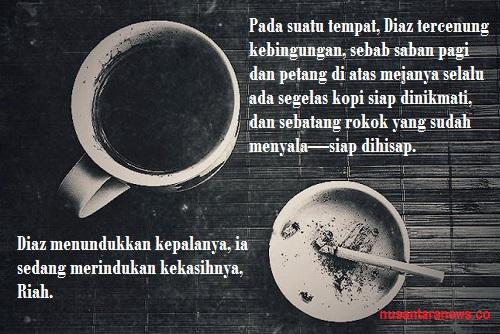 Ilustrasi Kopi dan Rokok. Foto @kopilegendaris/ Ilustrasi: Nusantaranews.co