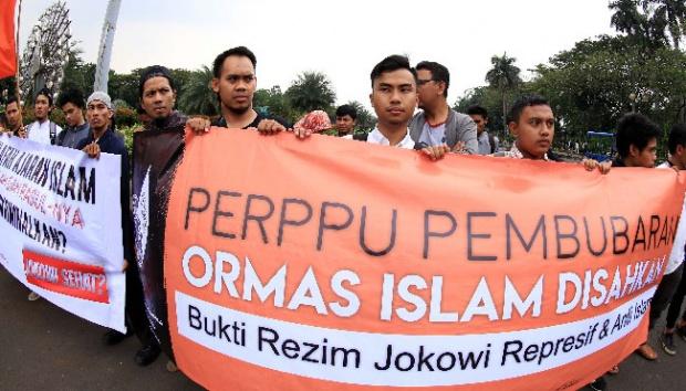 Aksi Penolakan Perppu Ormas/Foto via tempo/Nusantaranews