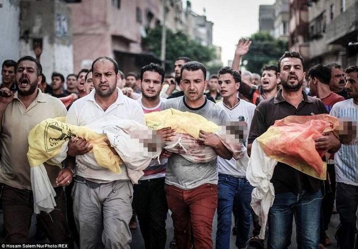 Anak-anak mati syahid di Palestina. Foto: Dok. Hosen Salem/NurPhoto/REX