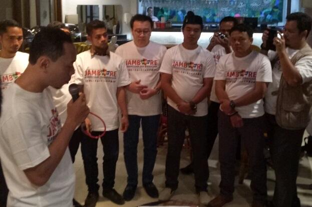 Forum Cipayung Plus menggelar Grand Launching Jambore Kebangsaan dan Wirausaha di RM Handayani, Senin, 31 Juli 2017. Foto Yameen/ NUSANTARANEWS.CO