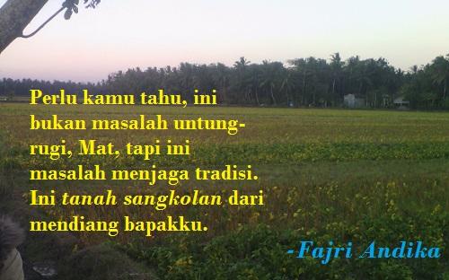 Ilustrasi - Tanah Sangkolan. Foto Sulaiman/NUSANTARANEWS