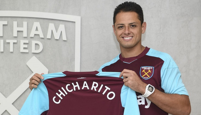 Javier Hernandez Berseragam West Ham/Foto via Sky Sport/Nusantaranews