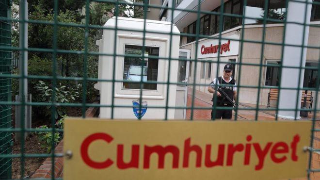 Kantor harian Cumhuriyet/Foto via BBC/Nusantaranews