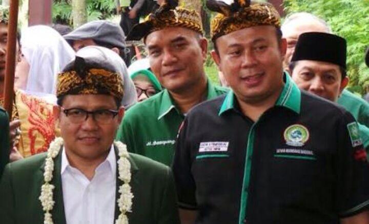 Ketua Umum DKN Garda Bangsa, Cucun A. Syamsulrijal bersama Ketua Umum DPP PKB H. Muhaimin Iskandar. Foto: Dok. DKN Garda Bangsa/ Istimewa