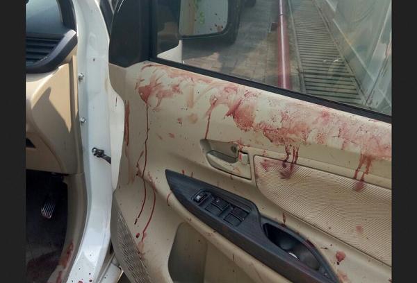 Kondisi Mobil Pakar ITB Hermansyah Berlumuran Darah Foto Istimewa Nusantaranews.jpg
