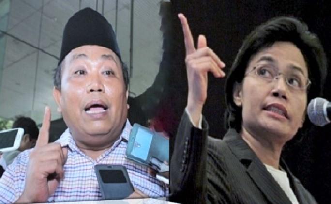 Wakil Ketua Umum Gerindra, Arief Poyuono dan Menteri Keuangan Sri Mulyani. Foto Ilustrasi: NUSANTARANEWS.Co