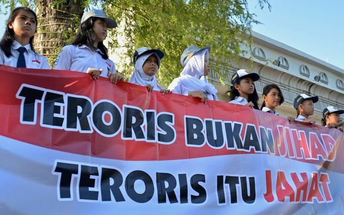 Menolak radikalisme disekolah/Foto bia dutadamai/Nusantaranews