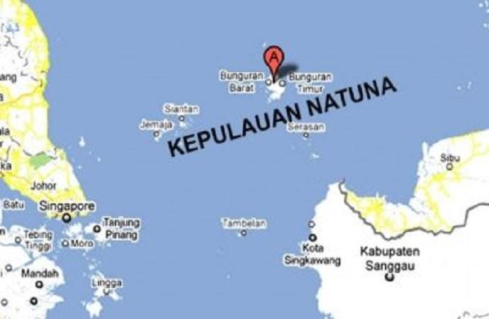 Posisi Natuna dalam Peta (Ilustrasi). Foto Istimewa