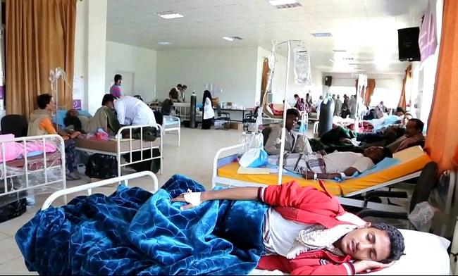 Para Pasien Kolera di Yaman Dirawat/Foto via aljazeera/Nusantaranews