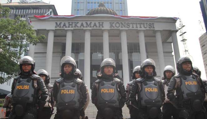 Pengamanan di Gedung MK/Ilustrasi/Foto via viva/Nusantaranews