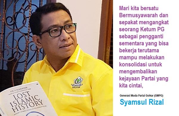 Generasi Muda Partai Golkar (GMPG) Syamsul Rizal. Foto Ilustrasi: NUSANTARANEWS.COGenerasi Muda Partai Golkar (GMPG) Syamsul Rizal. Foto Ilustrasi: NUSANTARANEWS.CO